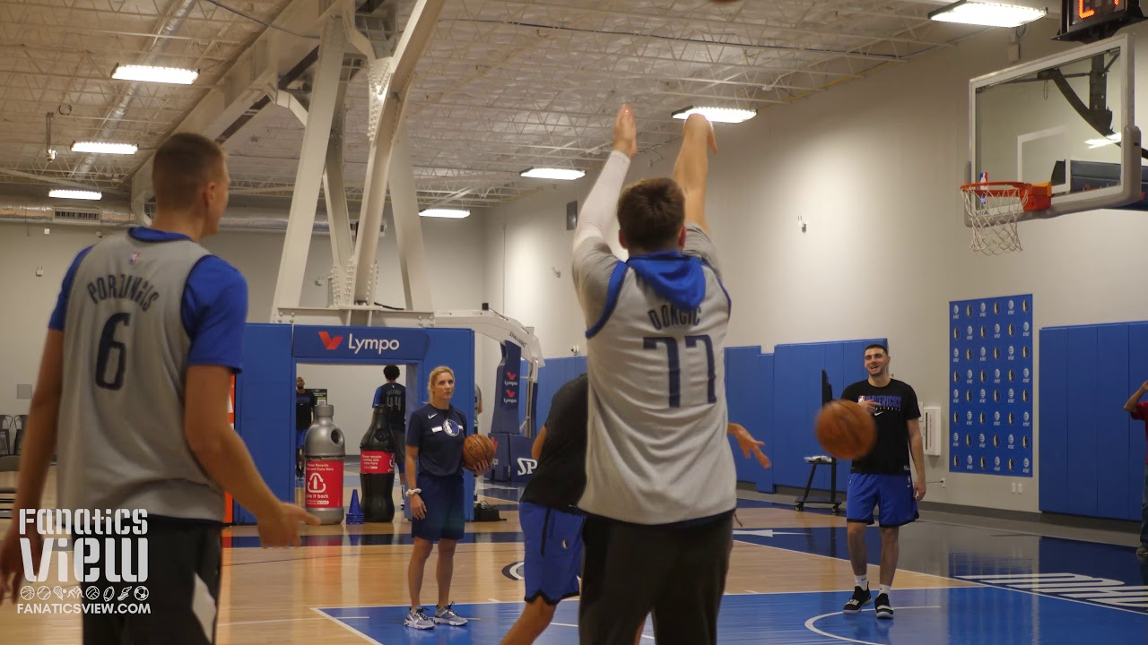 Luka Doncic & Kristaps Porzingis Go Back And Forth From Downtown In Final Preseason Practice