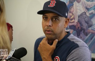 """Red Sox manager Alex Cora on Texas Rangers Future: """"They have arms! They're an Interesting Team!"""""""