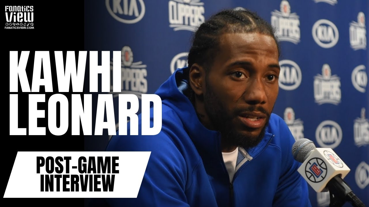 Kawhi Leonard reacts to facing the Raptors, load management criticism and the Clippers' current outlook
