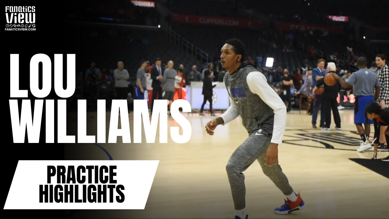Lou Williams works on three-pointers in pre-game warmups