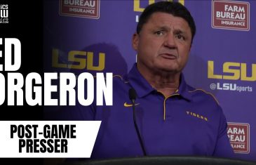 "Ed Orgeron on Joe Burrow's LSU Career: ""The guy's been phenomenal"""