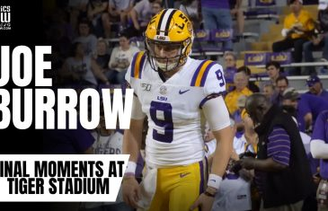 Joe Burrow Final Moments as an LSU Tiger at Tiger Stadium