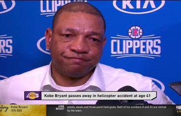 Doc Rivers holds back tears while discussing Kobe Bryant's legacy