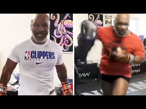 Mike Tyson declares 'he's back' in latest training video