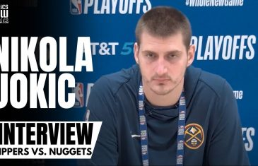 Nikola Jokic Reacts to Denver Nuggets Upsetting the LA Clippers & Denver Being a Complete Team