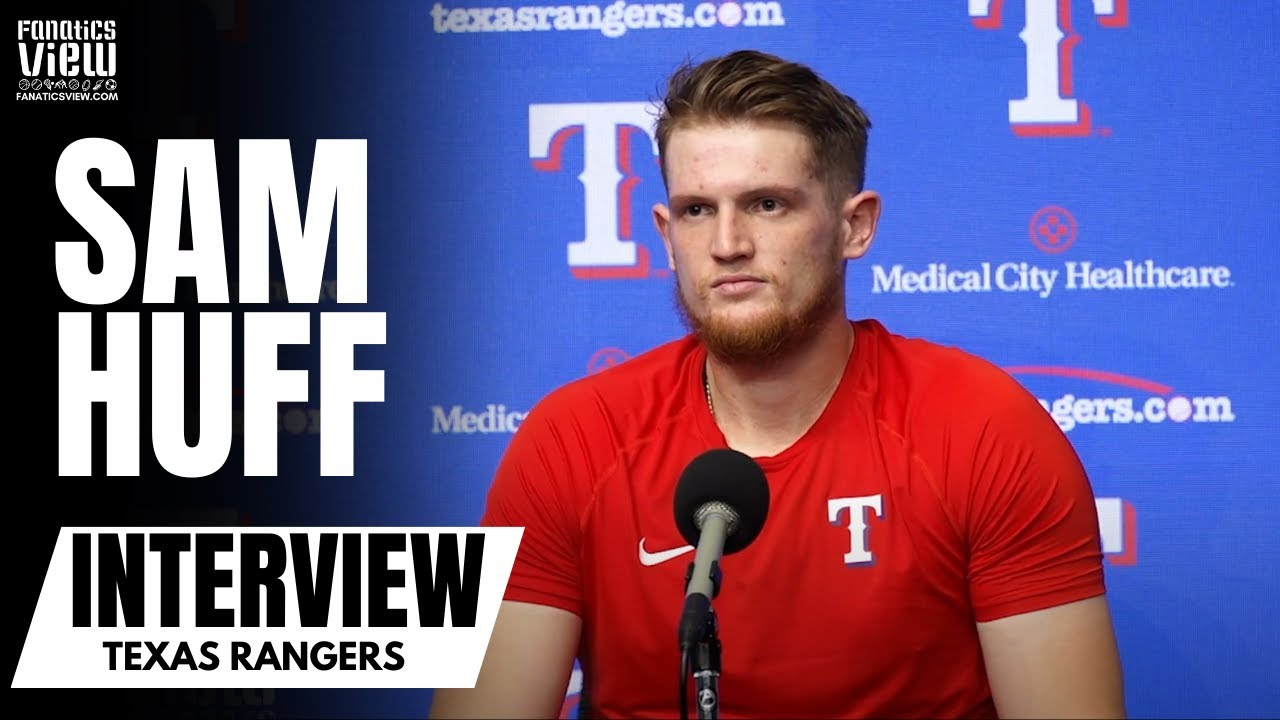 Sam Huff Reacts to Making His Major League Debut With Texas as a MLB Top 100 Prospect