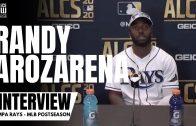 Randy Arozarena Reacts to Winning NLCS MVP & Rays advancing to World Series