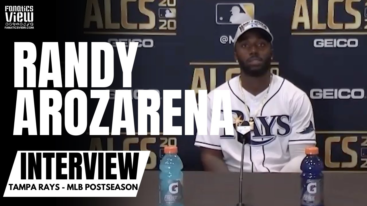 Randy Arozarena Reacts to Winning NLCS MVP & Rays advancing to World Series