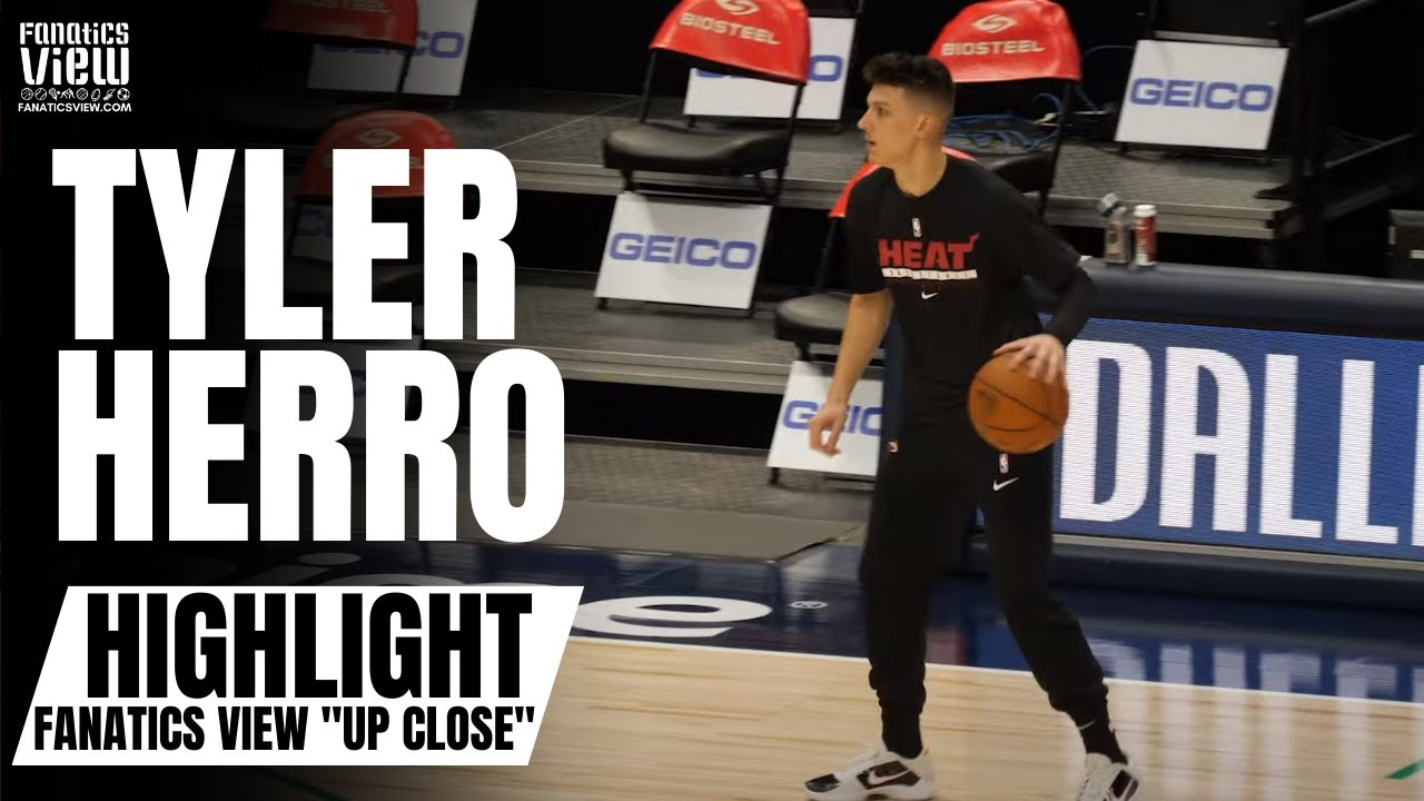 Tyler Herro Shows Off Impressive 3-Point Shot & Handle in On-Court Workout |