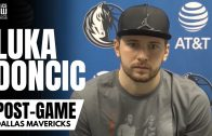 Luka Doncic Reacts to Jalen Brunson Dagger 3 vs. Spurs & Calling Plays for Kristaps Porzingis