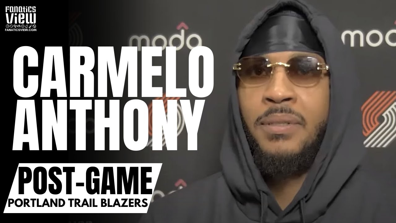 Carmelo Anthony Embraces LaMelo Ball for