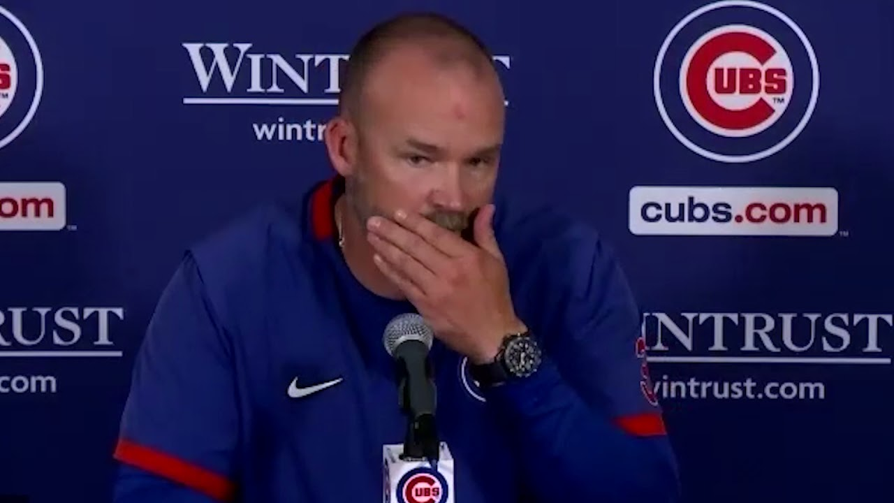 David Ross on Willson Contreras Getting Hit Twice by Brewers: