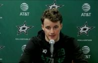 """Jake Oettinger talks 41 Save Performance & Proof Stars Can """"Beat Anyone"""" With """"Any Lineup"""""""