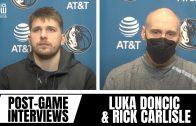 Luka Doncic & Rick Carlisle Review Loss vs. Blazers, Luka's Passes & Kristaps Porzingis Play