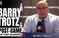 Barry Trotz Reviews New York Islanders 8-0 Loss vs. Tampa & Mathew Barzal Game Misconduct