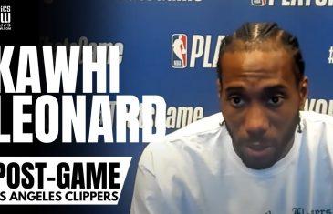 "Kawhi Leonard talks ""Evolving"" Chemistry with Paul George & Reviews LA Clippers Game 3 Win vs. Utah"