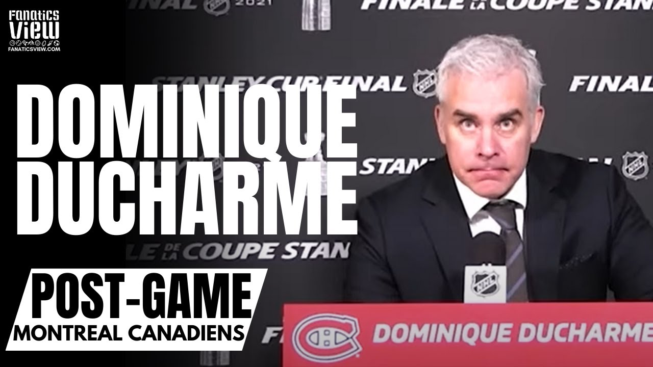 Dominique Ducharme Reacts to Montreal Canadiens Losing Stanley Cup: