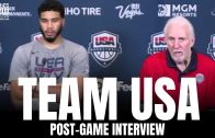 """Gregg Popovich & Jayson Tatum on Team USA Losing to Nigeria: """"Can't Act Like It's End of the World"""""""