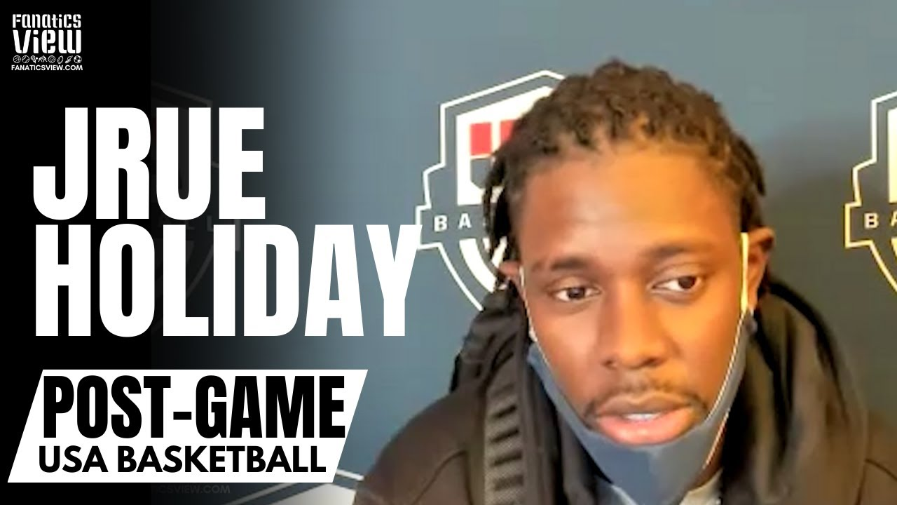 Jrue Holiday Reacts to Team USA Losing to France & Talks Tokyo Flight With Devin Booker After Finals