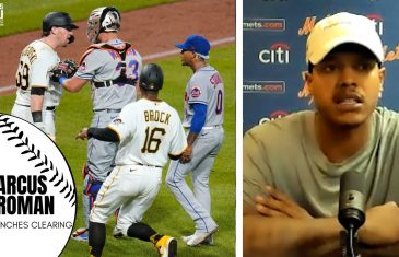 """Marcus Stroman Calls Pirates Player John Nogowski a """"Clown"""" After Mets vs. Pirates Bench Clearing"""