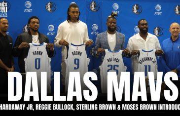 Dallas Mavericks Introduce Reggie Bullock, Sterling Brown, Moses Brown & Tim Hardaway Jr. | Full Presser