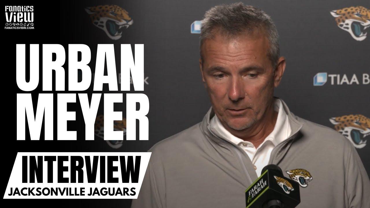 Urban Meyer talks Trevor Lawrence Early Struggles, Broncos Loss, Jags Kicker Josh Lambo Concerns