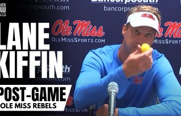 """Lane Kiffin Reacts to Getting Hit By a Golf Ball By Tennessee Fans & Jokes """"Moonshine"""" Wasn't Thrown"""