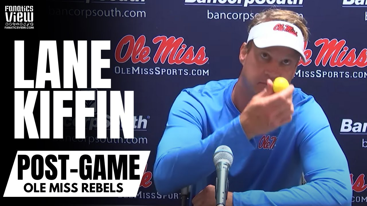 Lane Kiffin Reacts to Getting Hit By a Golf Ball By Tennessee Fans & Jokes