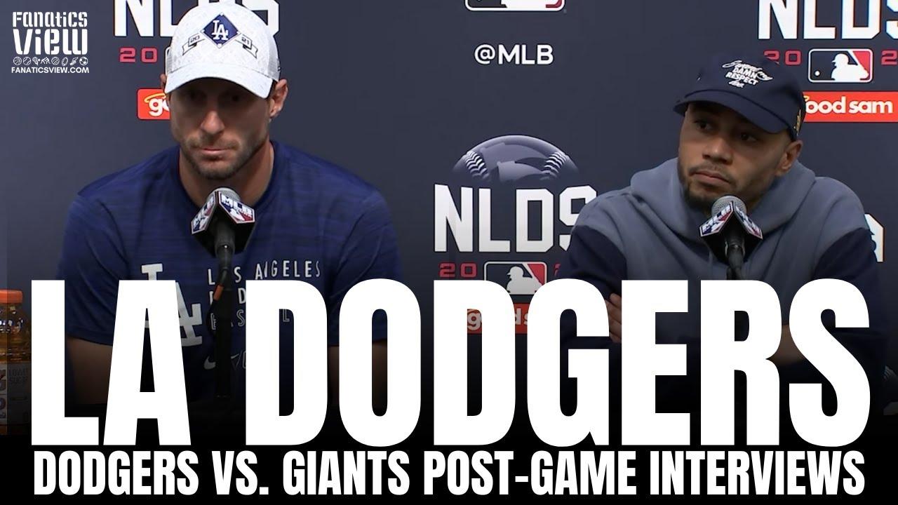 Max Scherzer & Mookie Betts React to Dodgers NLDS Series Win over the Giants