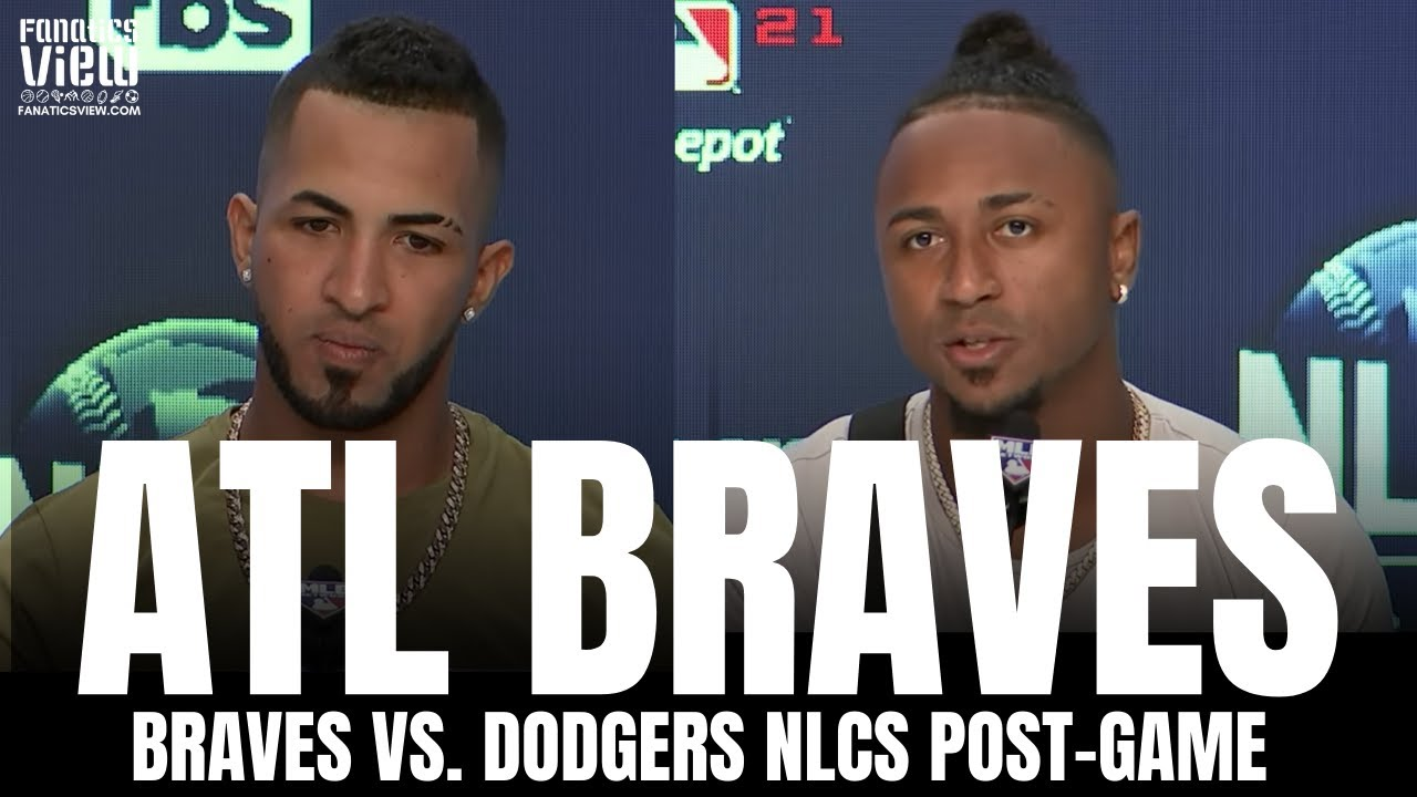 Ozzie Albies & Eddie Rosario React to Braves 2nd Walk Off vs. Dodgers, Braves Trade Deadline Moves