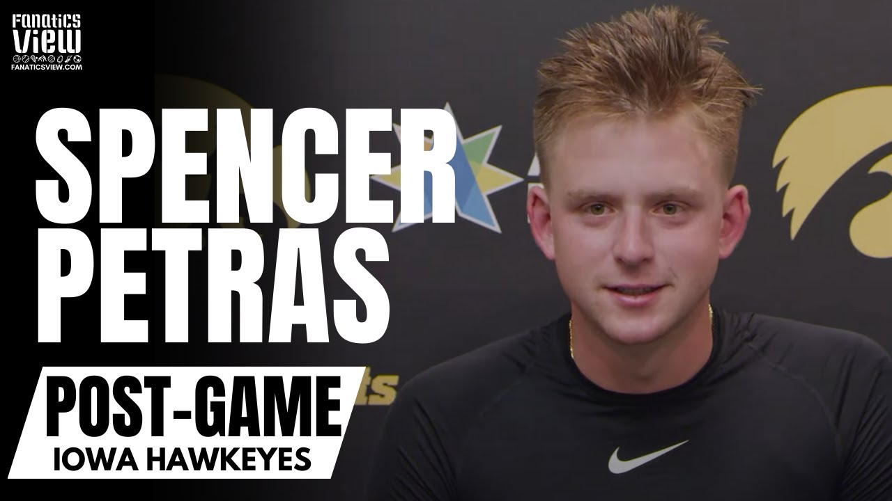 Spencer Petras Reacts to Iowa's Huge Big 10 Win vs. Penn State & Hawkeyes Fans Storming Field
